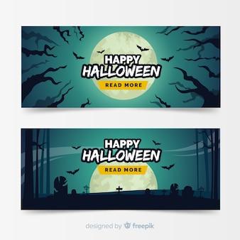 Halloween design plat modèle bannière