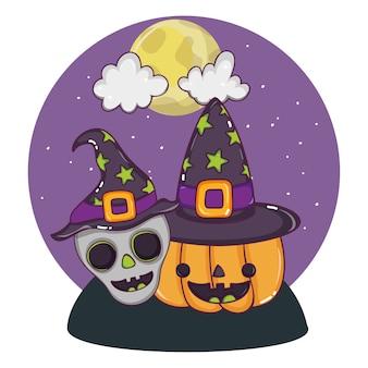 Halloween dessins animés mignons