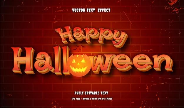 Halloween avec effet de texte modifiable de style moderne