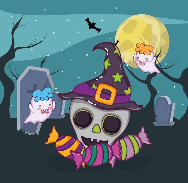Halloween effrayant dessin animé