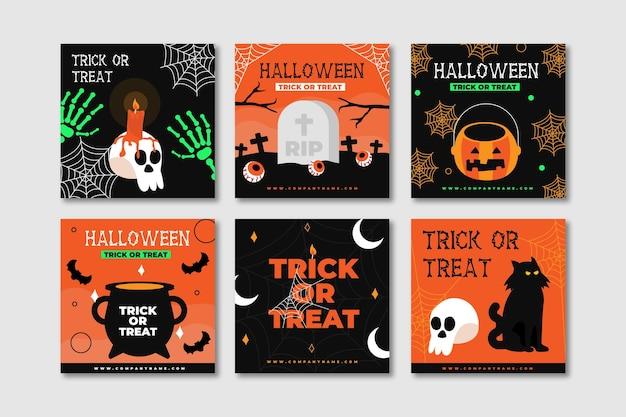 Halloween événement instagram posts