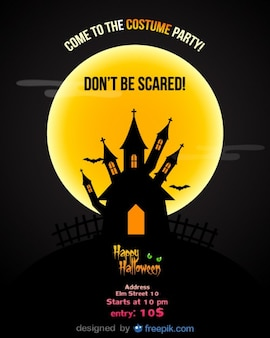 Halloween flyer template parti