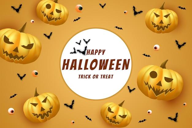 Halloween sur un fond de cercle blanc