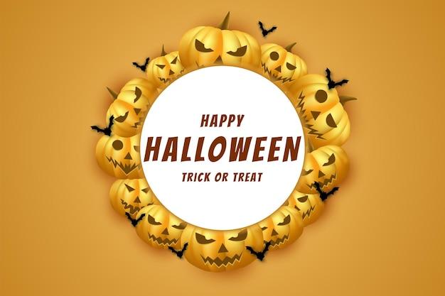 Halloween avec fond de citrouilles entourant soigneusement le lettrage