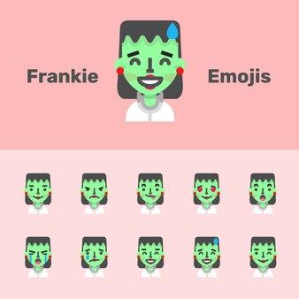 Halloween frankie emojis femme