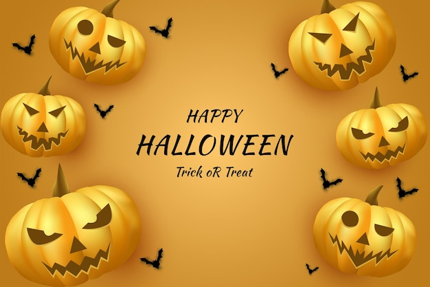 Halloween avec un grand fond de citrouille effrayant