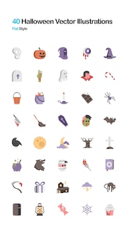 Halloween Illustration Plate Vecteur Premium