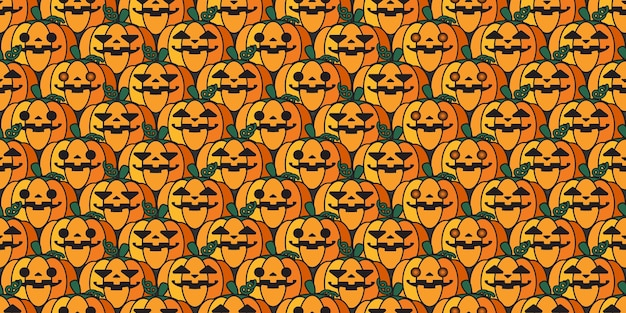 Halloween jack o lanterne citrouille répétition modèle sans couture.