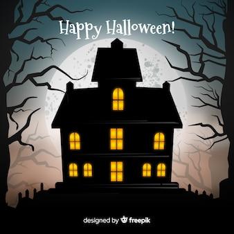 Halloween maison hantée avec un design réaliste
