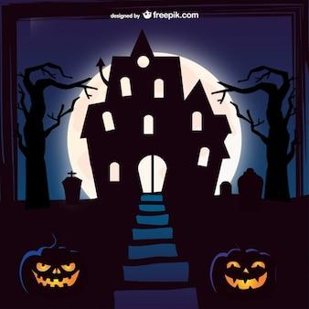 Halloween manoir fond