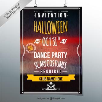Halloween modèle d'invitation de partie