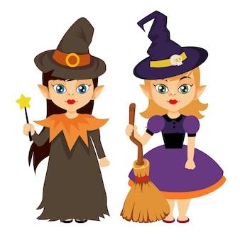 Halloween petite fille porter un costume
