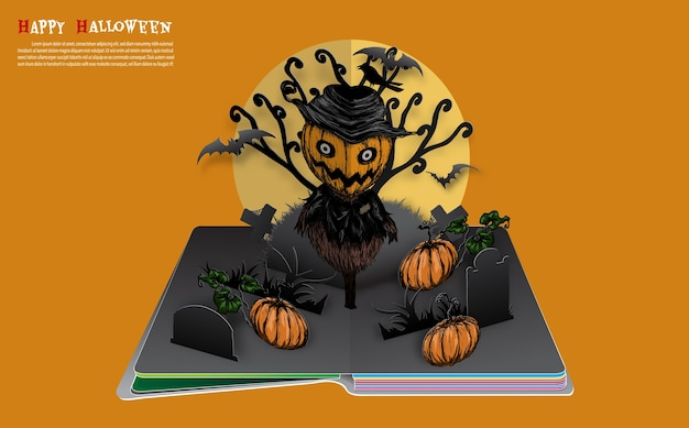 Halloween pop up book du vecteur.