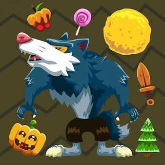 Halloween set werewolf