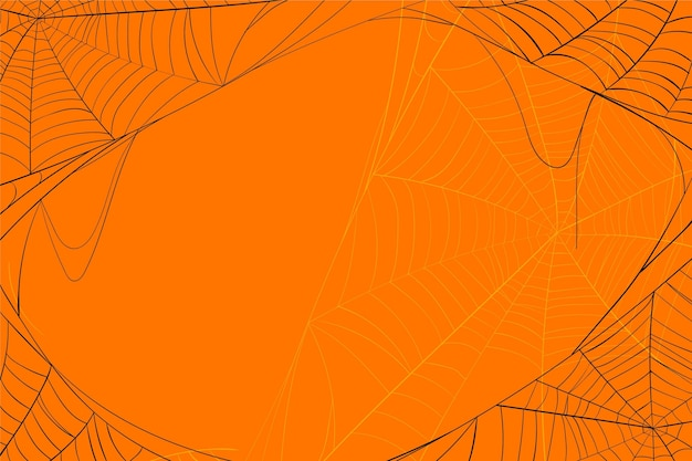 Halloween toile d'araignée fond orange