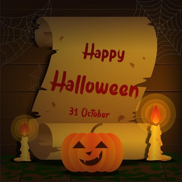 Halloween sur vieux papier