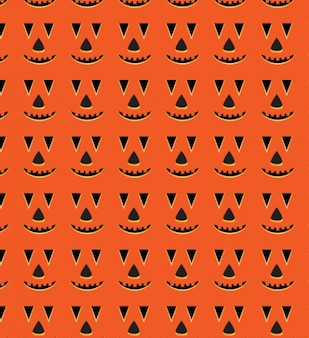 Halloween visage de citrouille, seamless