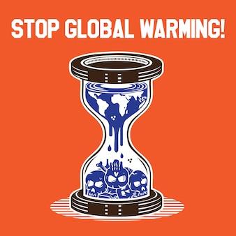 Halte au réchauffement planétaire (crâne)