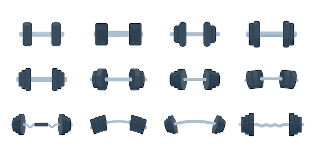 Haltères de fitness en acier avec poids pour des exercices de musculation et de musculation.