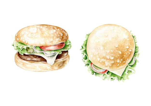Hamburger aquarelle.