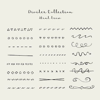 Hand draw divider collection
