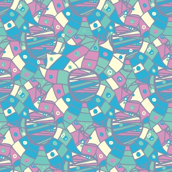 Hand drawn abstract seamless pattern avec des fleurs