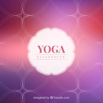 Hand drawn abstract yoga fond