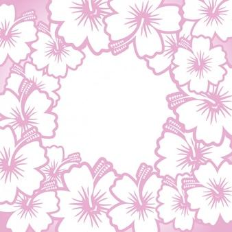 Hand drawn cadre fleurs