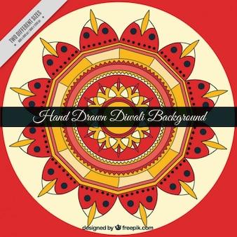 Hand drawn fond diwali