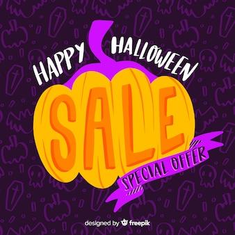 Hand drawn halloween offre spéciale vente