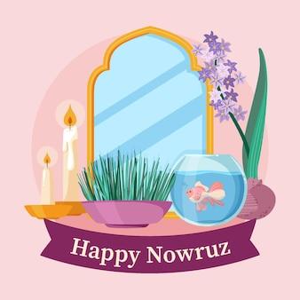 Hand drawn happy nowruz