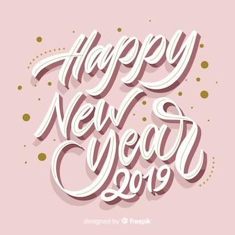 Hand drawn new year 2019 bakcground