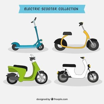 Hand drawn pack de scooters électriques