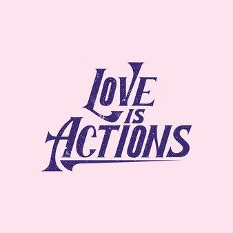 Handlettering typography l'amour est une action