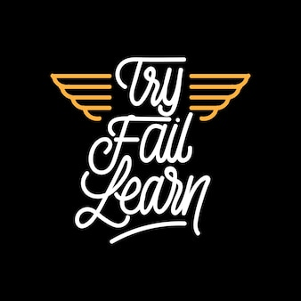 Handlettering typography try fail learn