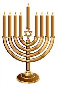 Hanukkah bougeoir avec 9 bougies, chandelier pour 9 bougies