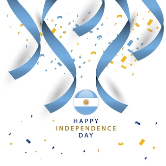Happy argentina independent day design de modèle de vecteur