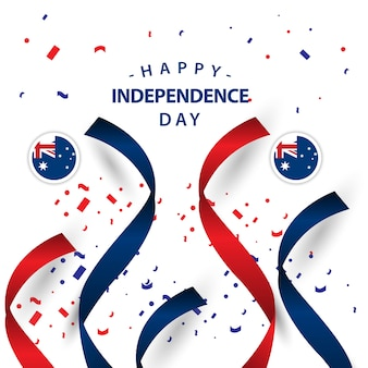 Happy australia independent day vector illustration de conception