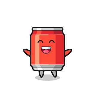 Happy baby drink can personnage de dessin animé, design de style mignon pour t-shirt, autocollant, élément de logo