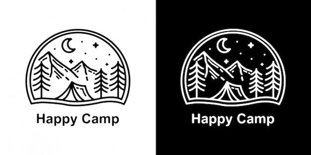 Happy camp monoline design