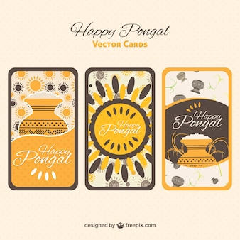 Happy cartes de vœux pongal