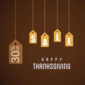 Happy day thanksgiving typographie pendaison