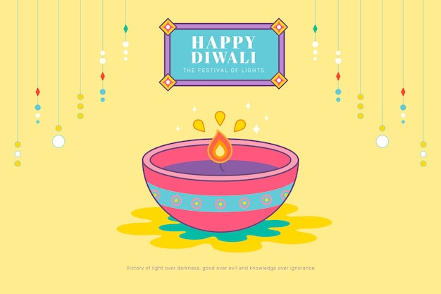 Happy deepavali, le fond de la fête des lumières
