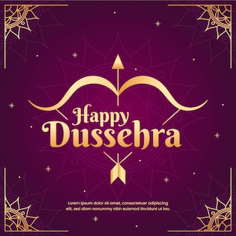 Happy dussehra au design plat