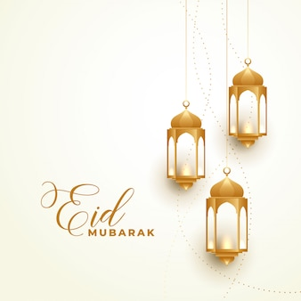 Happy eid festival lampes d'or