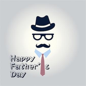 Happy fathers day inscription illustration vectorielle fathers day modèle de carte de voeux sur un fond gris bonne fête jour de pères
