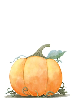 Happy halloween, aquarelle halloween citrouille.