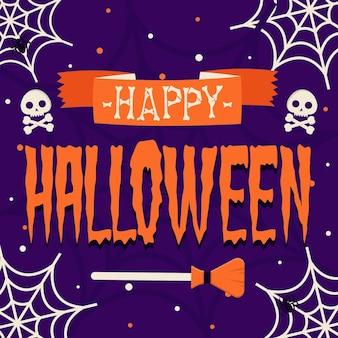 Happy halloween - concept de lettrage
