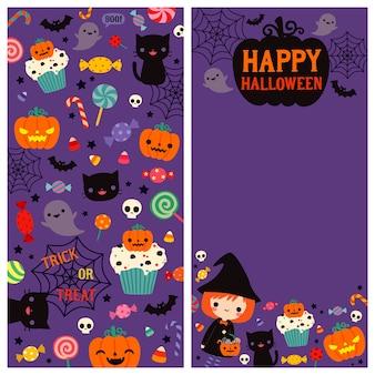 Happy halloween deux côtés carte
