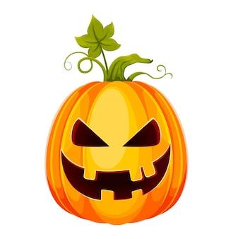 Happy halloween funny jack o lantern avec un visage effrayant